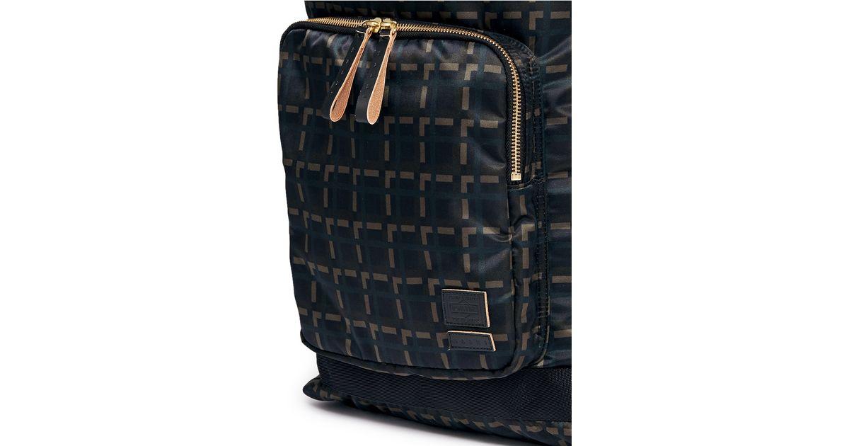 9cd55798c3 Lyst - Marni X Porter Check Print Techno Fabric Drawstring Backpack in  Black for Men