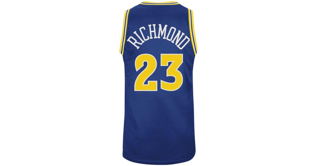 23da43c4276 Lyst - adidas Mens Mitch Richmond Golden State Warriors Retired Player  Swingman Jersey in Blue for Men