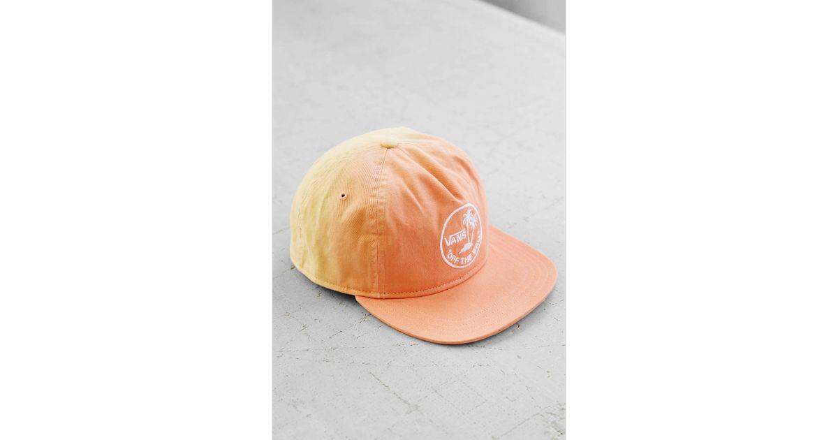Lyst - Vans Dipped Snapback Hat in Orange for Men 082379c1706