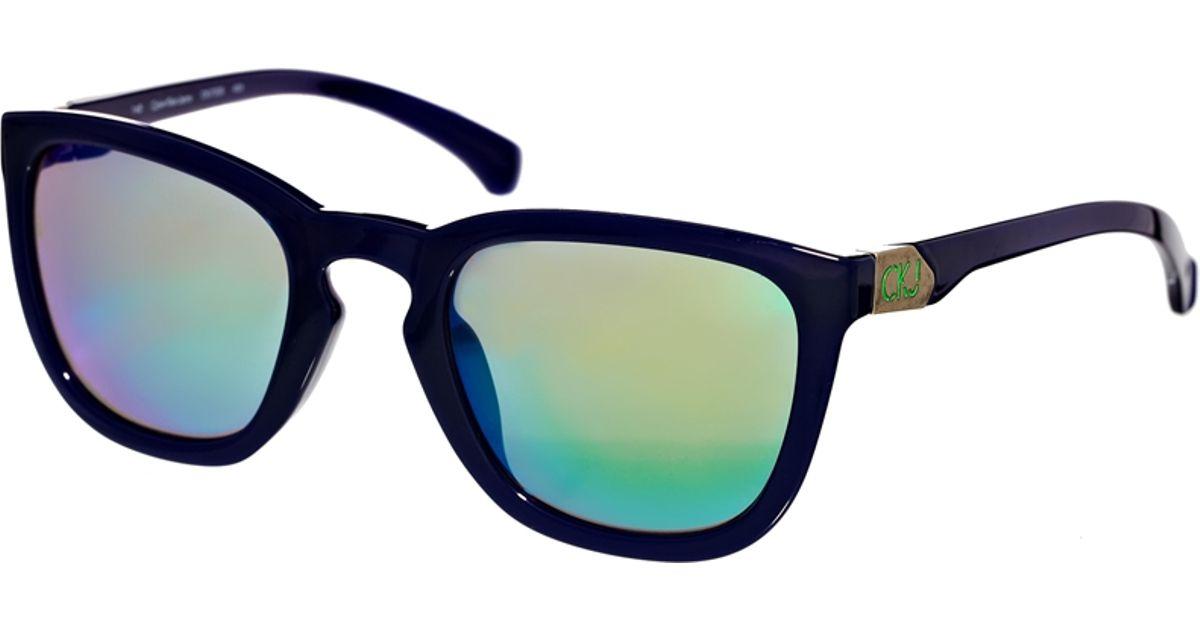 Lyst - Calvin Klein Jeans D Frame Sunglasses in Black