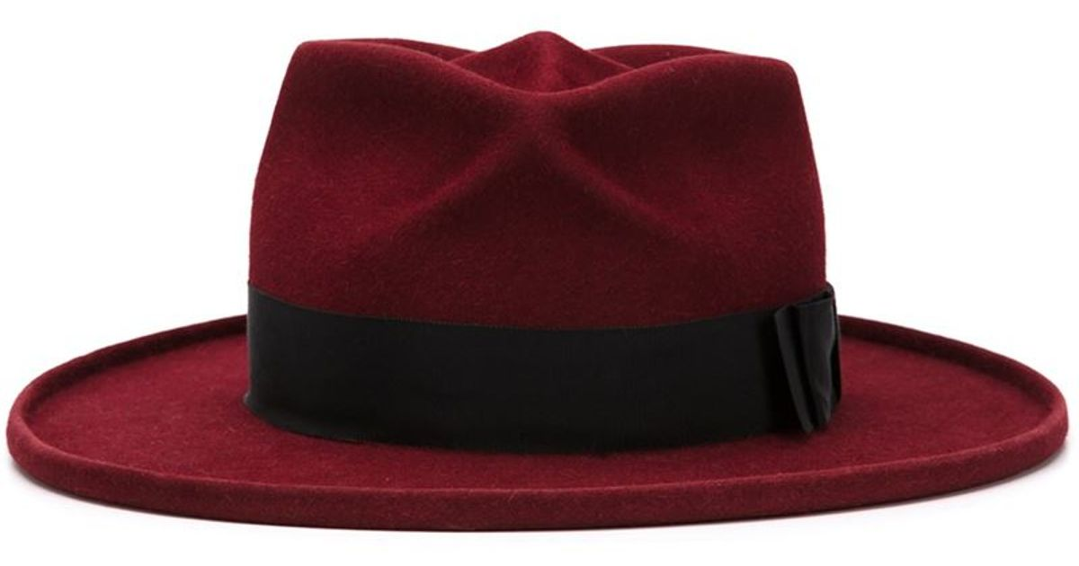 1d47470334780 Lyst - Gladys Tamez Millinery  cancer  Hat in Red
