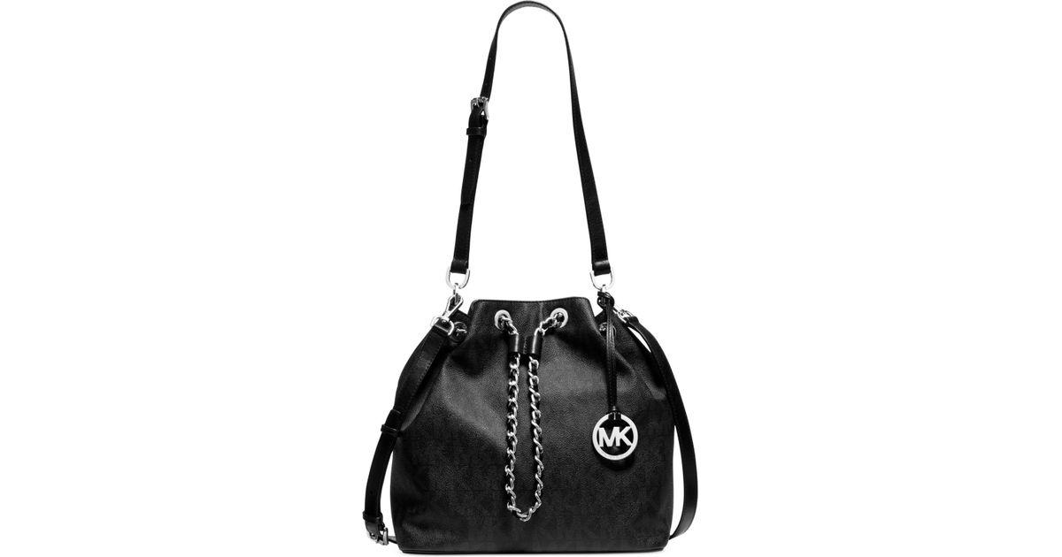 395343dfca5a Lyst - Michael Kors Michael Frankie Large Drawstring Convertible Shoulder  Bag in Black
