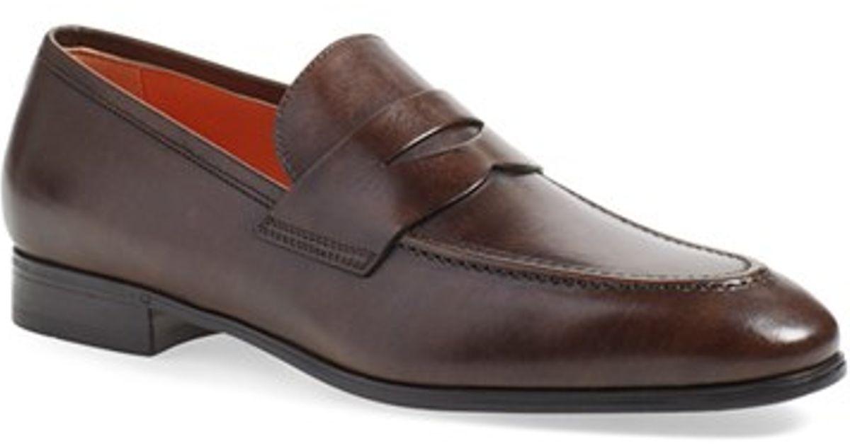 santoni Leather Loafer
