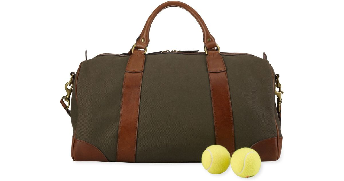 Lyst - Polo Ralph Lauren Canvas   Leather Gym Bag in Green for Men c950c3ea507f2