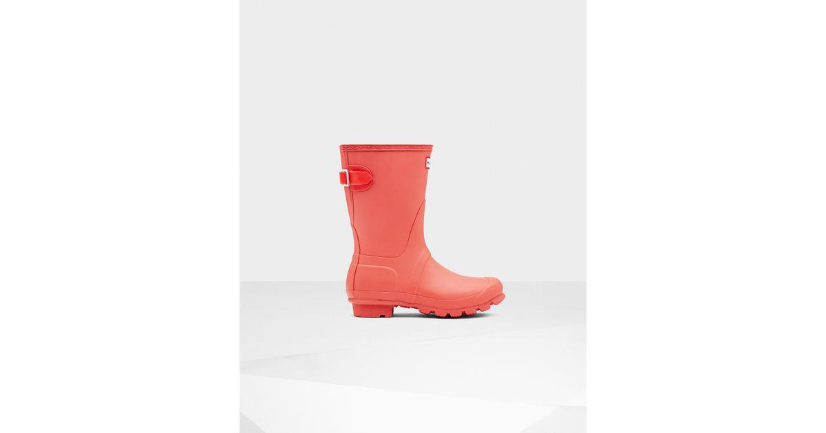 Womens Boots Hunter Original Back Adjustable Sunset/Tent Red