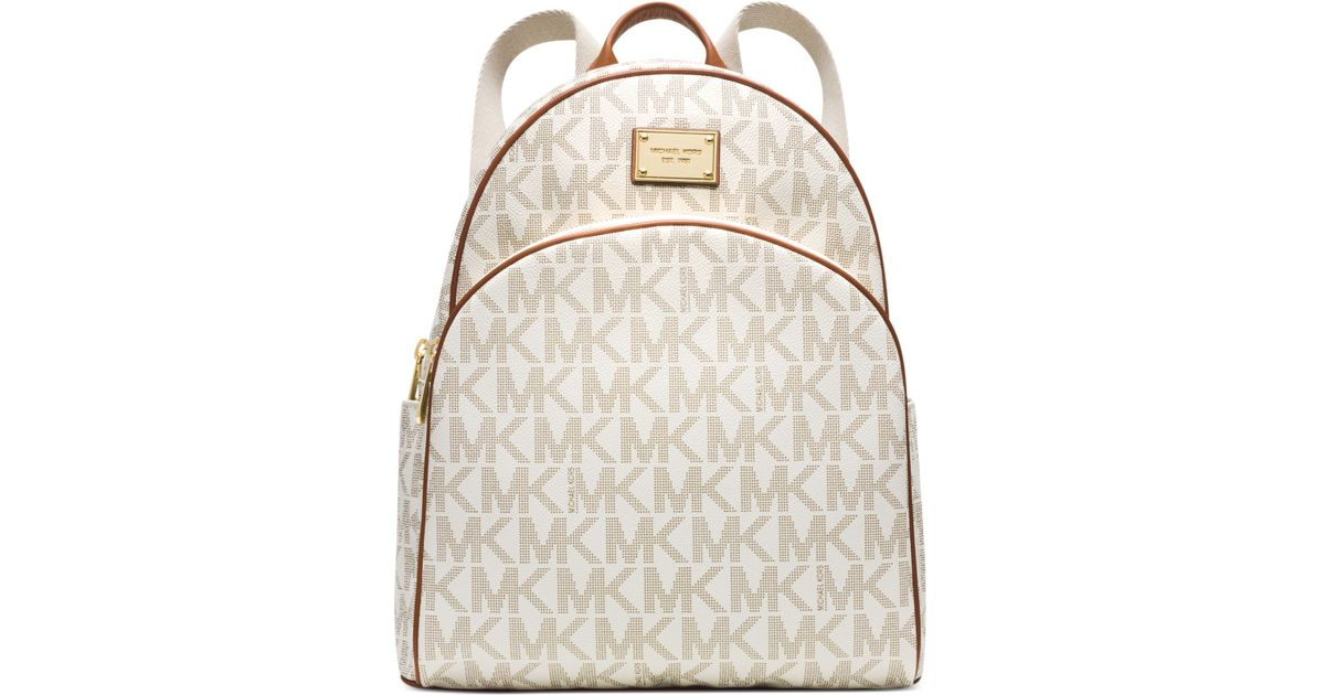 Lyst Michael Kors Michael Signature Large Backpack In White