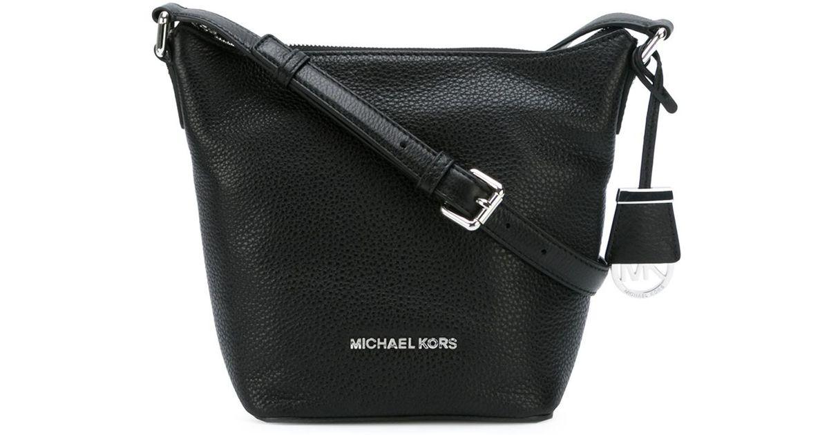 2898ad5fc3de24 ... netherlands lyst michael michael kors small bedford messenger bag in  black 26887 9d54a