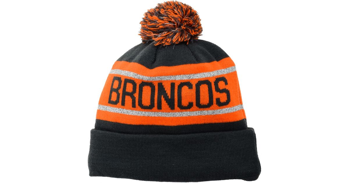 ab3f7da2d0ffb Lyst - Ktz Denver Broncos Biggest Fan Reflective Knit Hat in Gray for Men