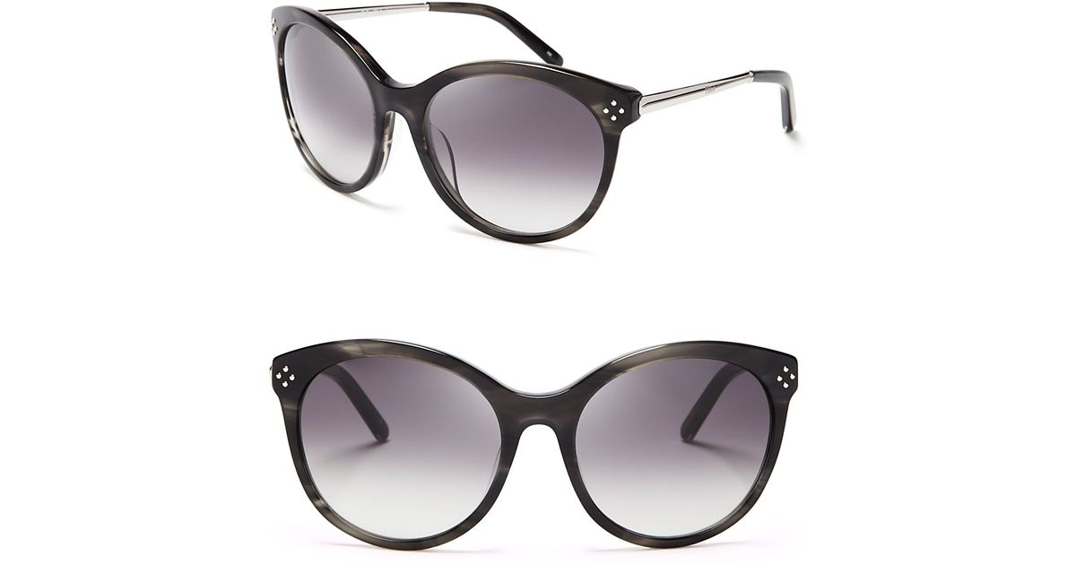 700e45f6a6d7 Chloé Boxwood Rounded Cat Eye Sunglasses in Gray - Lyst