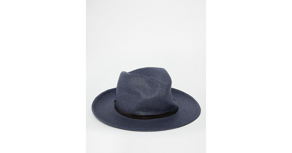 3a07750c50b Lyst - Catarzi Wide Brim Fedora Hat in Blue for Men