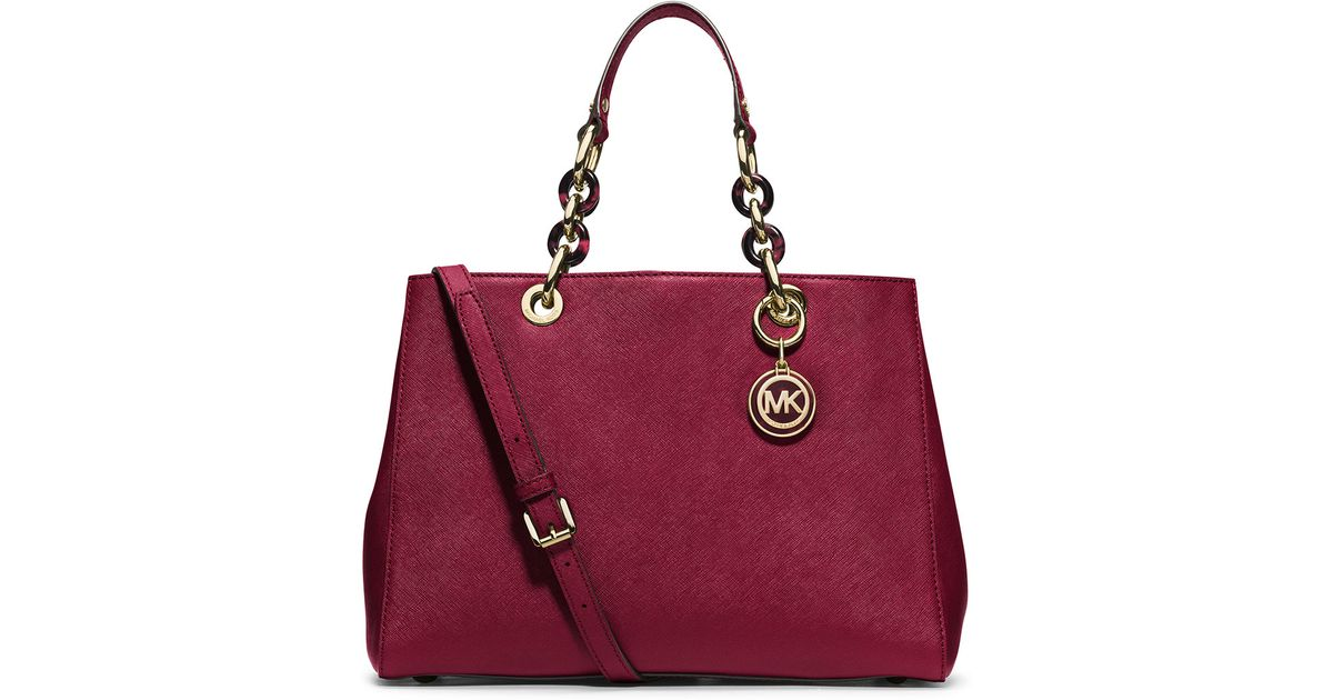 88324981865ae6 12345678910 74f16 aaca4; low price lyst michael michael kors hamilton  medium satchel bag in red 1ae25 1455f