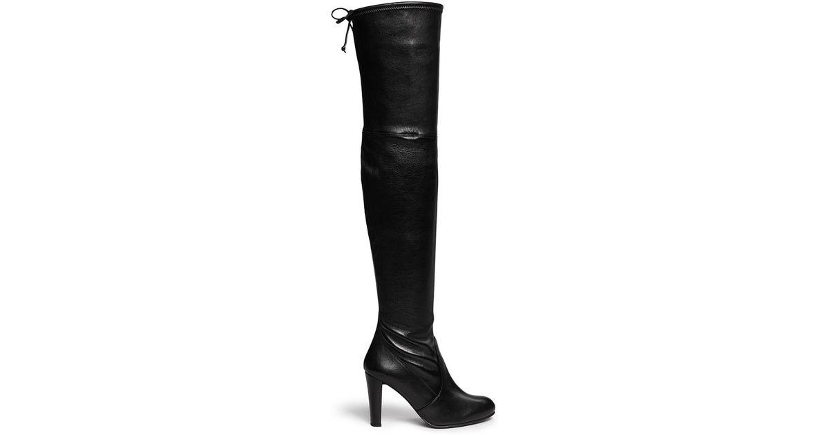 stuart weitzman highland stretch leather thigh high