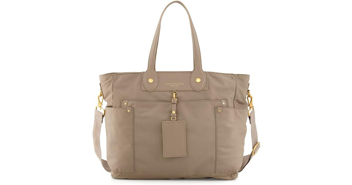 marc by marc jacobs preppy nylon elizababy diaper bag in beige lyst. Black Bedroom Furniture Sets. Home Design Ideas