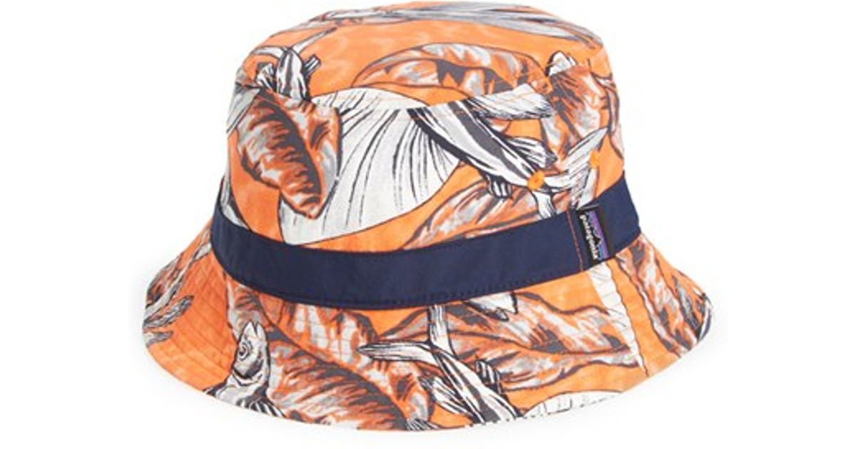 Lyst - Patagonia  wavefarer  Bucket Hat in Orange for Men 9eeffd6337e