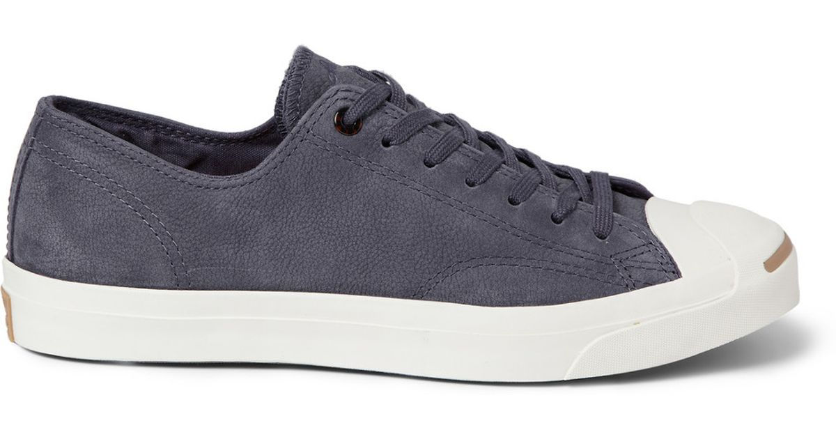 f8a04a7c7baa40 Lyst - Converse Jack Purcell Nubuck Sneakers in Gray for Men