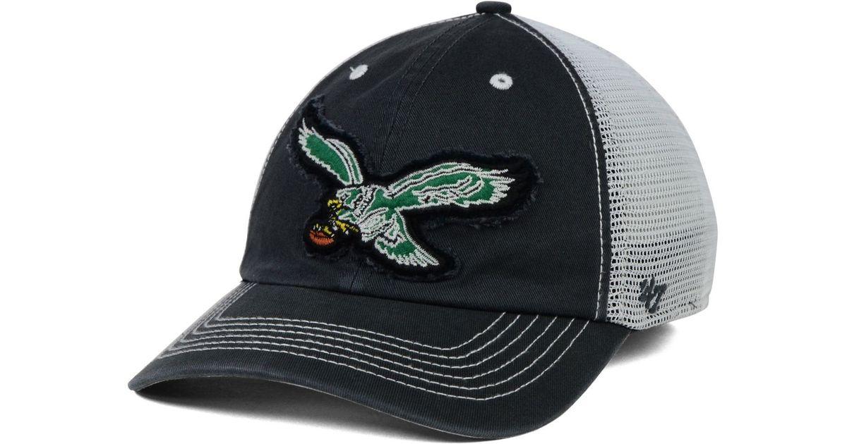 new arrivals f609d dbf75 official lyst 47 brand philadelphia eagles taylor closer cap in white for  men df8f5 e4f5b