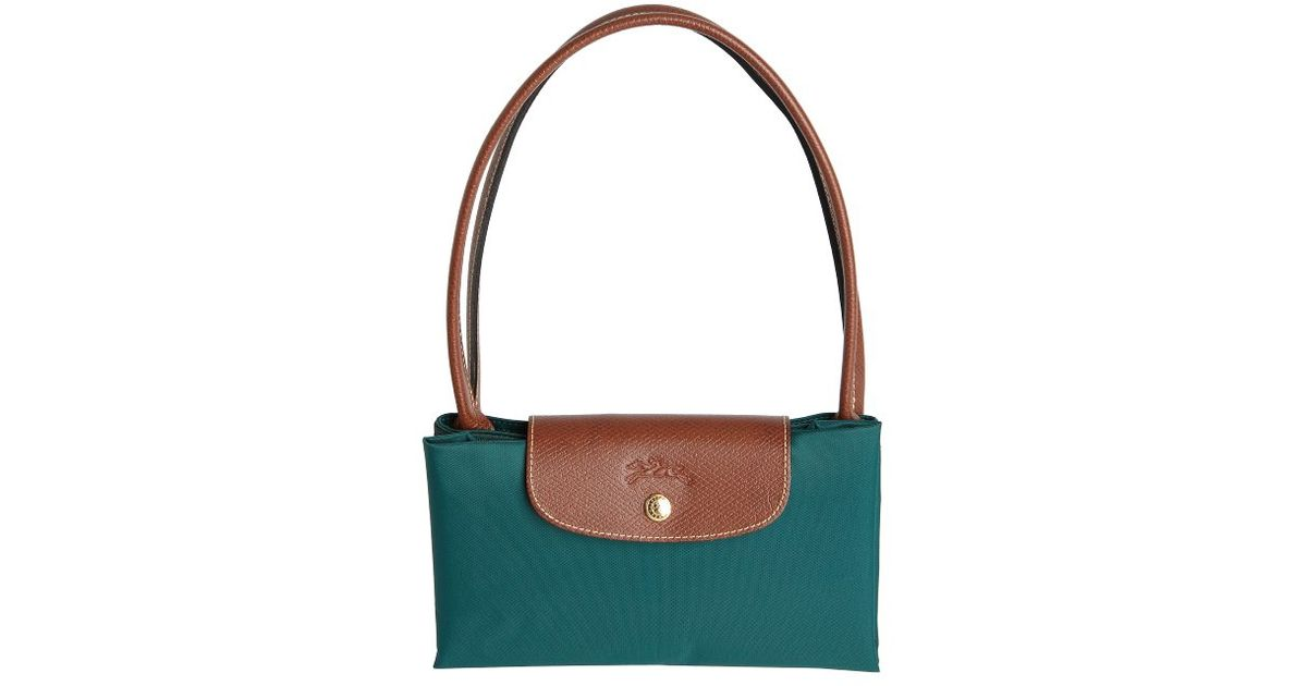 Lyst Longchamp Cedar Leather Trimmed Nylon Le Pliage Packable Large Tote In Green