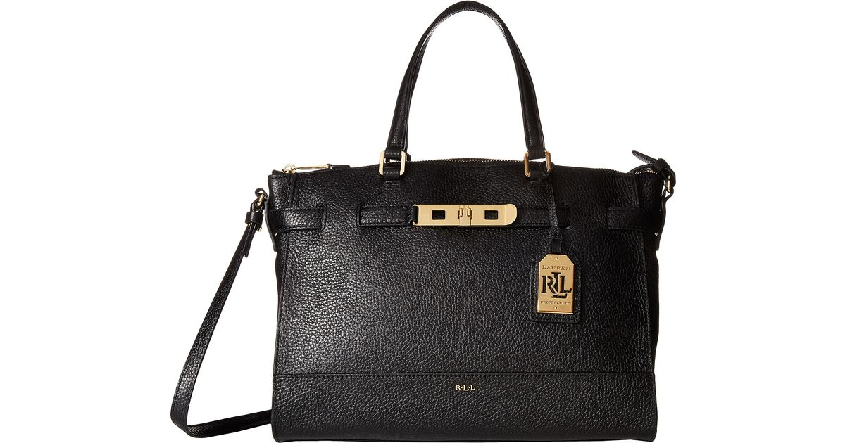 019cc32d04 Lyst - Lauren by Ralph Lauren Darwin Satchel in Black