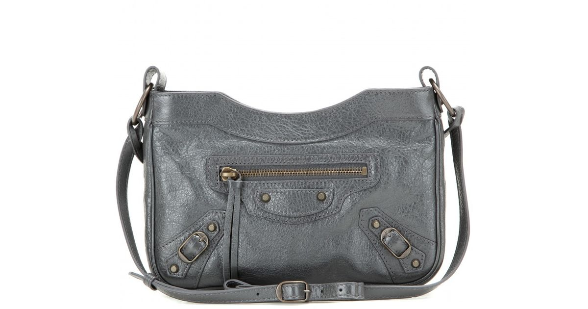 02e73ed145ac Lyst - Balenciaga Classic Hip Leather Shoulder Bag in Gray