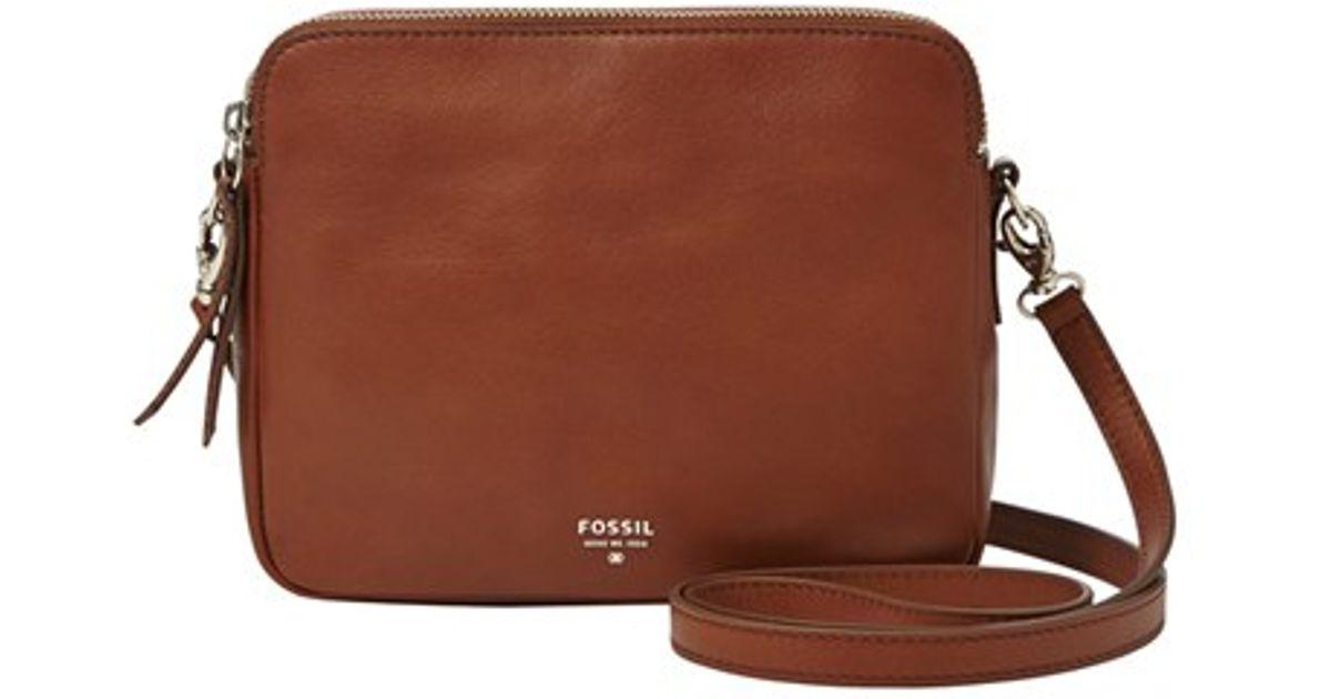 e9d1714bd Fossil 'sydney' Leather Crossbody Bag in Brown - Lyst