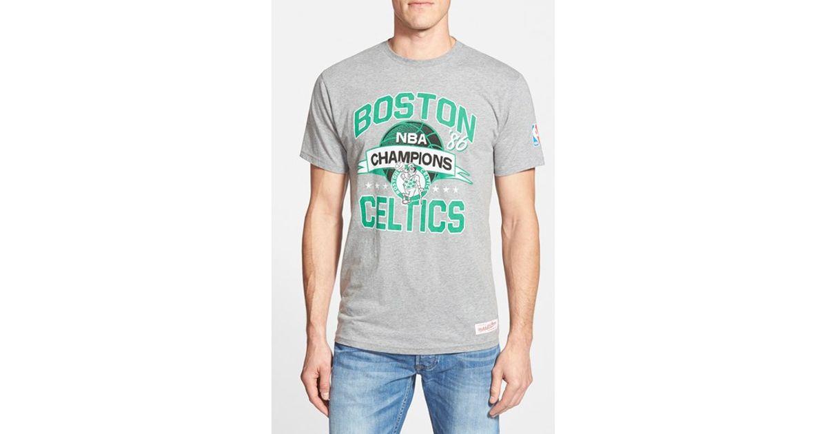 2f419e6a83f Mitchell   Ness  Boston Celtics  Graphic T-Shirt in Gray for Men - Lyst