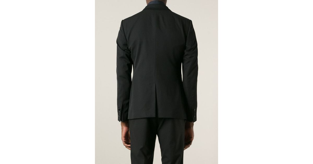 Lyst Dolce Gabbana Classic Smoking Jacket In Black For Men