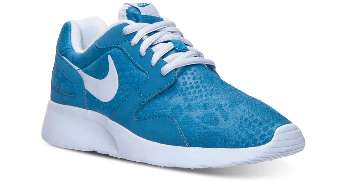 big sale 2a4eb 56eb2 Nike Women s Kaishi Print Casual Sneakers From Finish Line in Blue - Lyst