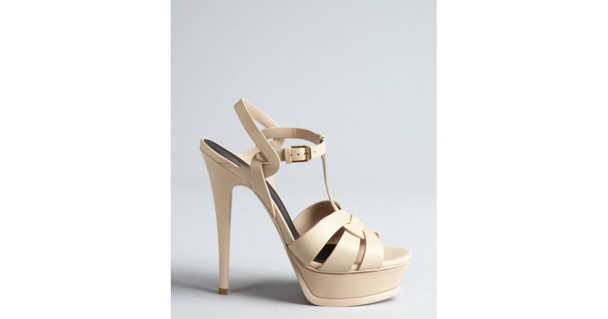 Yves Saint Laurent Metallic T-Strap Sandals free shipping footlocker pictures ZKy4v