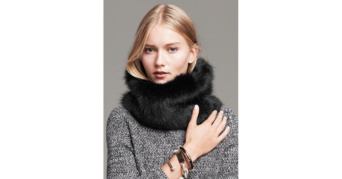 22fd5775046 Lyst - Banana Republic Faux Fur Neck Warmer Size One Size - Black in Black