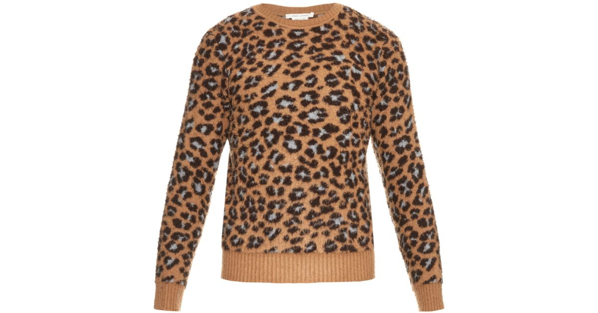 87ff116b3120 Marc Jacobs Leopard Cashmere And Wool-blend Sweater in Brown for Men - Lyst