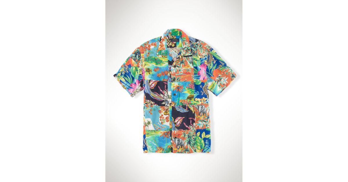 44888f6a89938 Lyst - Polo Ralph Lauren Hawaiian Patchwork Camp Shirt for Men