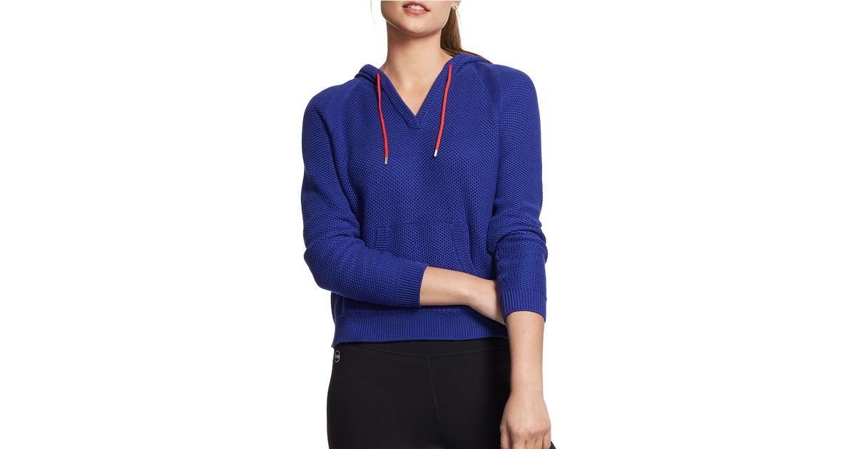 lauren by ralph lauren hooded cotton pullover in blue lyst. Black Bedroom Furniture Sets. Home Design Ideas