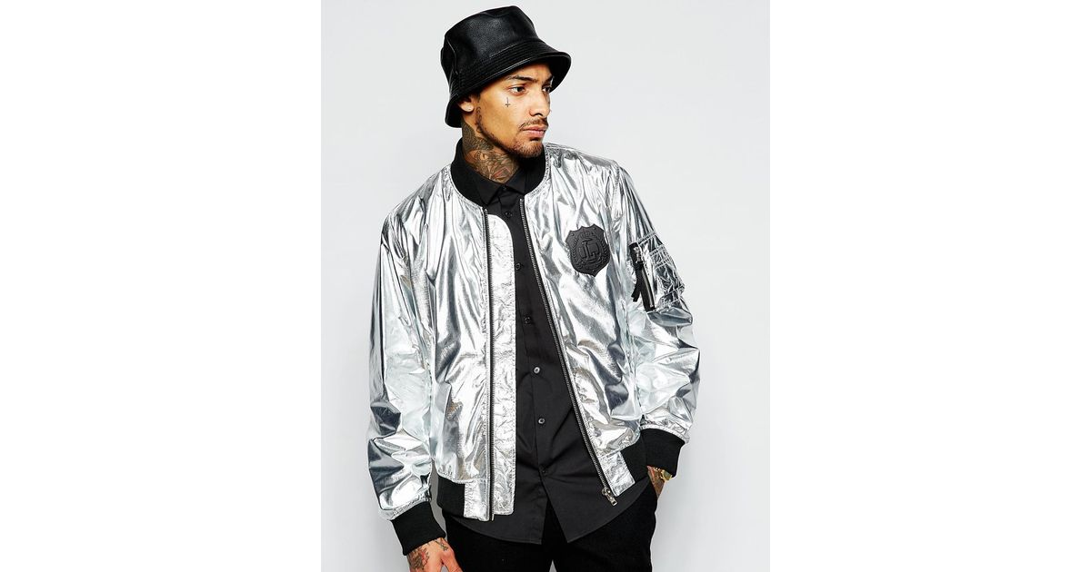 Love Moschino Bomber Jacket in Metallic for Men - Lyst 0a8ca61414d7