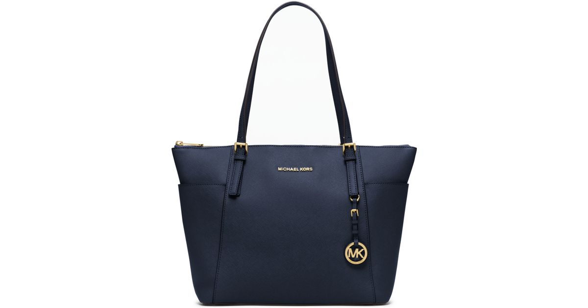Bolsa Michael Kors Jet Set Saffiano : Michael kors jet set large top zip saffiano leather tote
