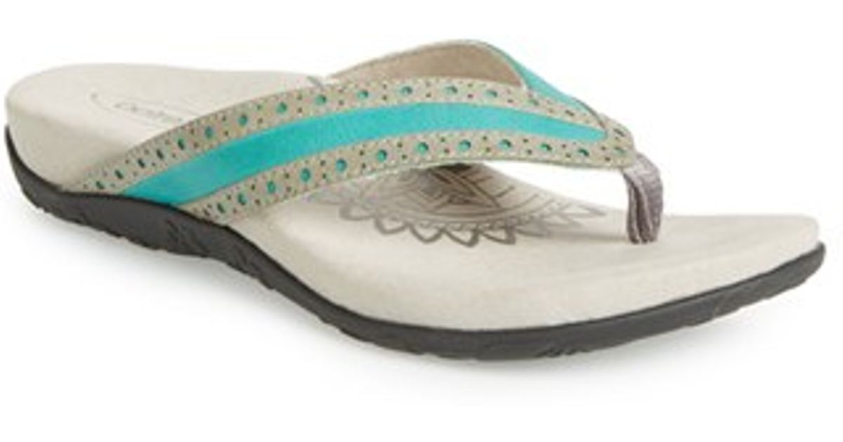 Aetrex Kim Flip-Flops In Blue  Lyst-7961