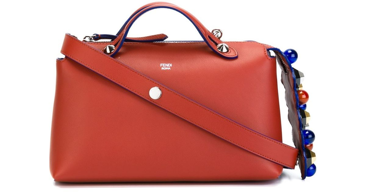 1ea22fd71469 Lyst - Fendi By The Way Medium Leather Tote in Red