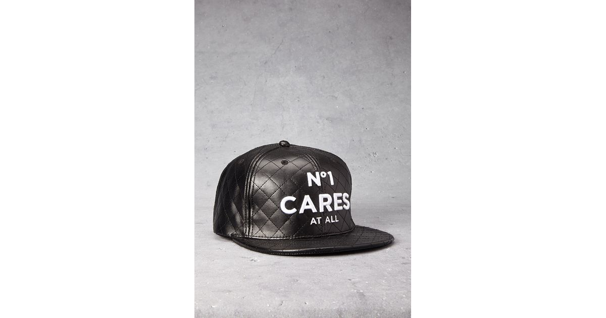 498b46f4c8e Lyst - Forever 21 No 1 Cares Faux Leather Snapback Hat in Black for Men