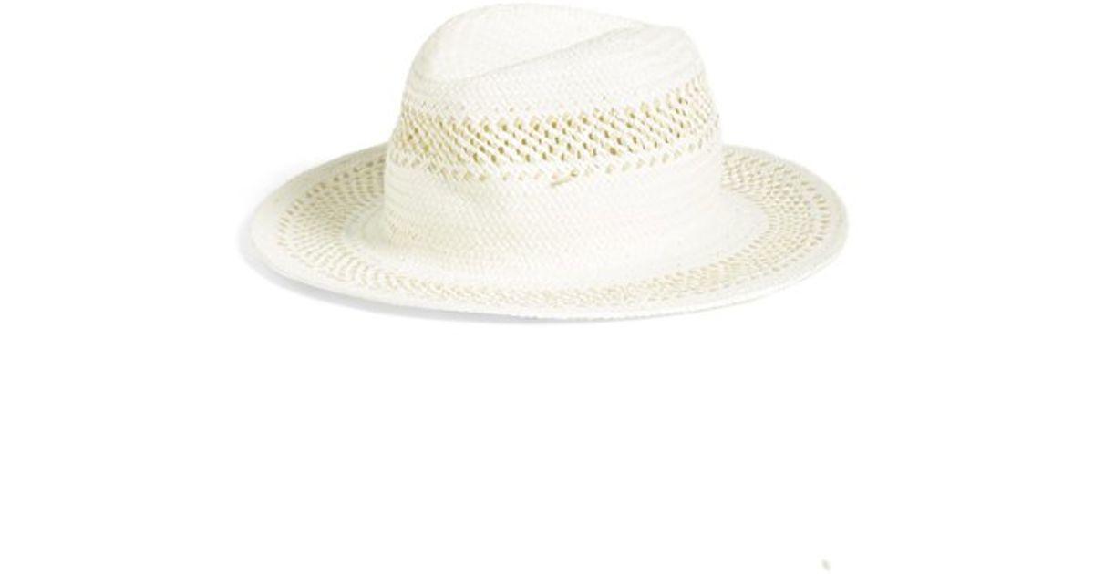 Lyst - Caslon Inset Weave Panama Hat in Natural de524481a160