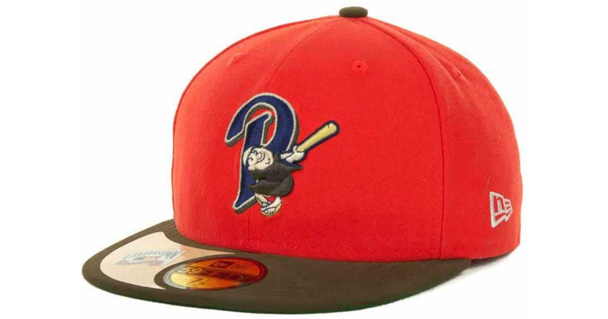 los angeles cc0a2 6d814 ... new style lyst ktz san diego padres cooperstown patch 59fifty cap in  orange for men 0d9a0