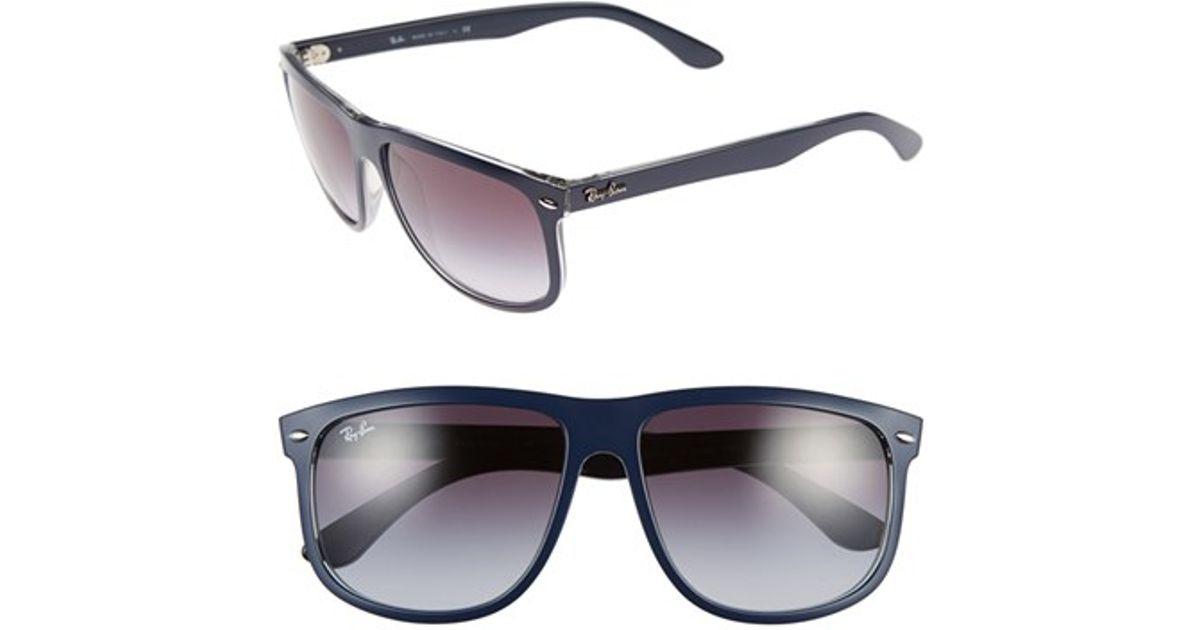 b4f148ac26 Lyst - Ray-Ban  flat Top Boyfriend  60mm Sunglasses in Blue for Men