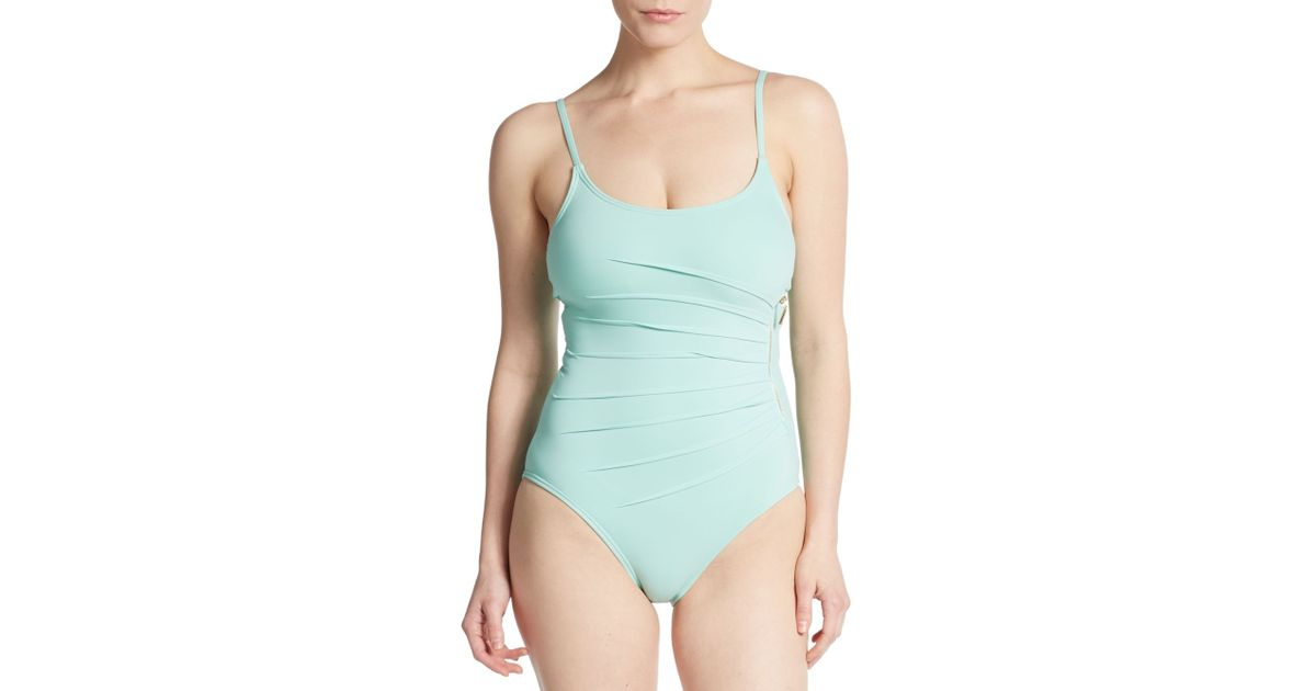 857f303ae7 Ivanka Trump One-piece Starburst Swimsuit in Blue - Lyst