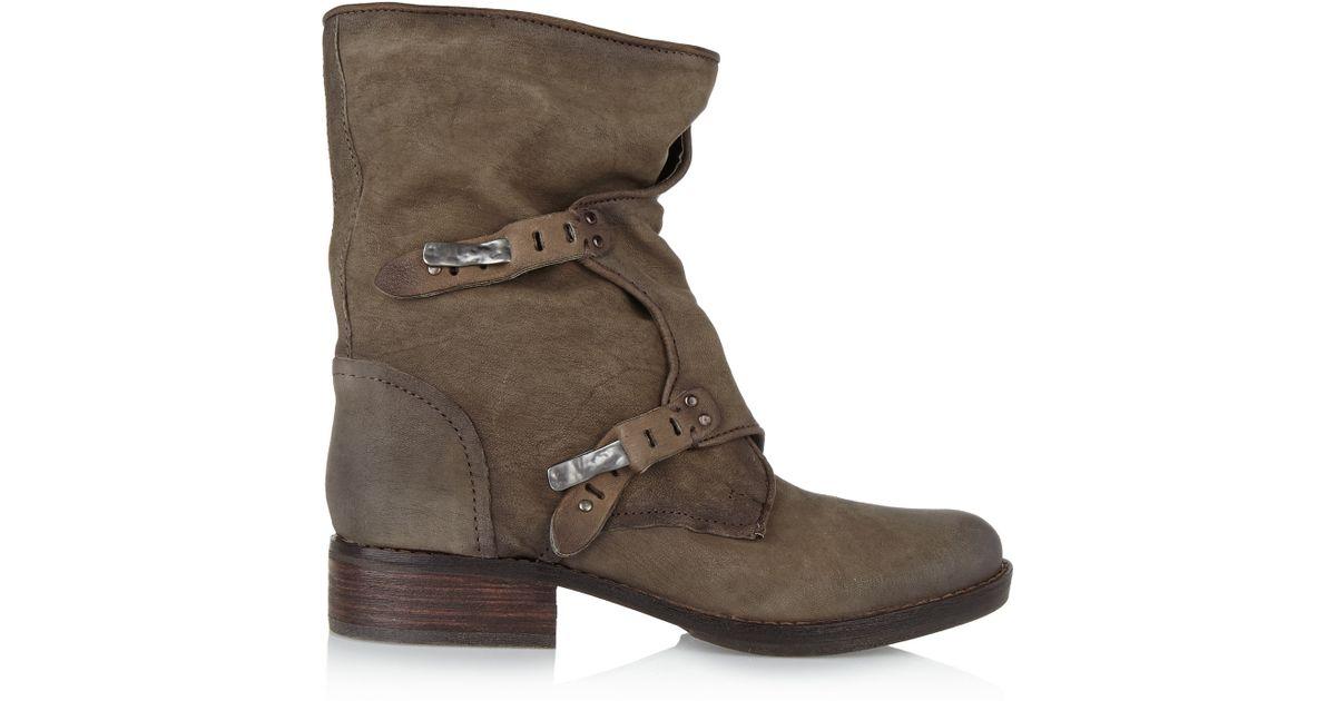 ea8607c44645 Sam Edelman Ridge Leather Boots in Brown - Lyst