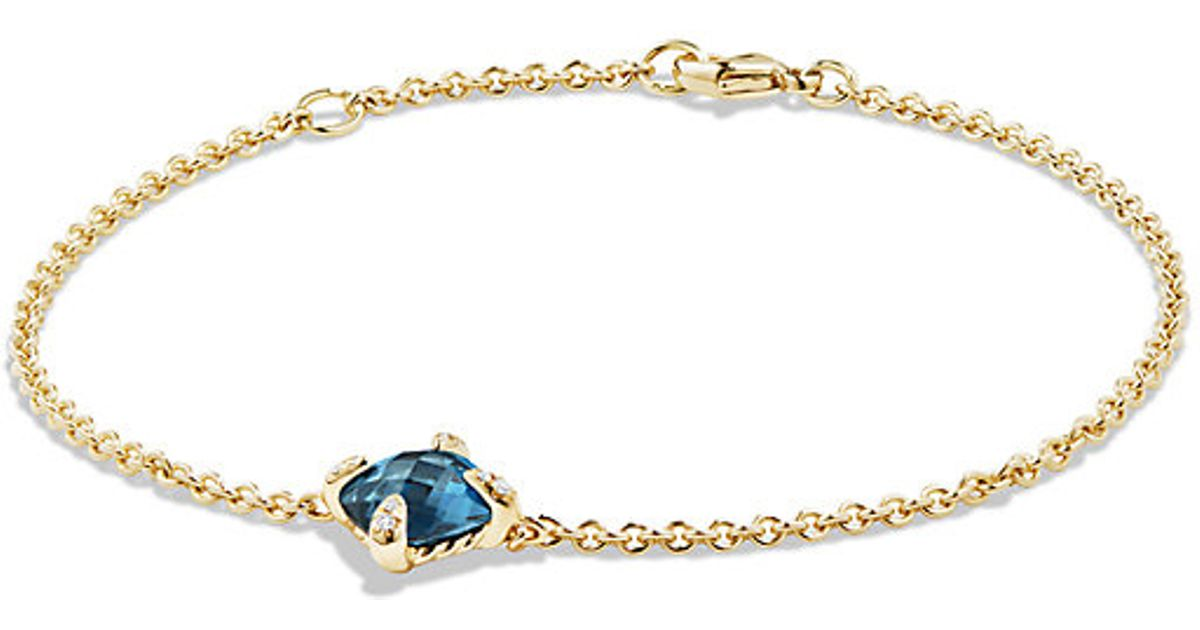 david yurman bracelet with hton blue topaz and diamonds