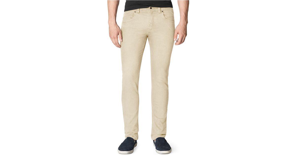 calvin klein jeans twill slub slim straight leg pants in. Black Bedroom Furniture Sets. Home Design Ideas