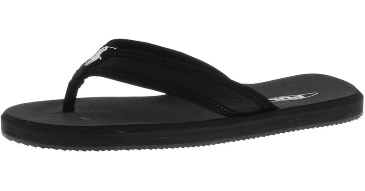 29a6635f1dc Lyst - Ralph Lauren Almer Ii Ne Flip Flops in Black for Men