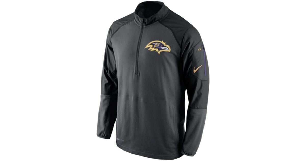 bfc2d4ba ... Nike Mens Baltimore Ravens Champ Drive Hybrid Half-zip Pullover in Gray  for Men Lyst