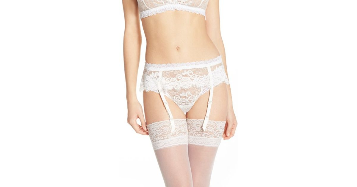 7544d8848 Hanky Panky  duchess  Bridal Garter Belt in White - Lyst