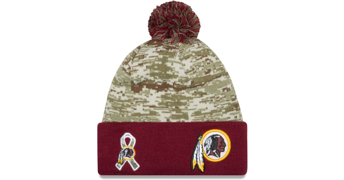 4f8063c3c64760 KTZ Washington Redskins Salute To Service Knit Hat in Green for Men - Lyst