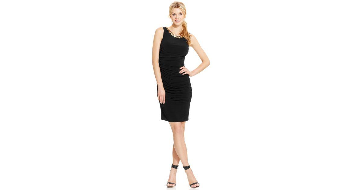 Calvin klein necklace blouson maxi dress