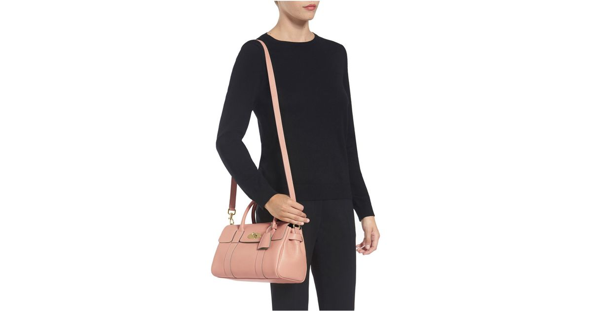 ... closeout mulberry small bayswater satchel in pink lyst 15412 1df08 667d90f617